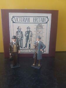 Sherlock Holmes & Dr Watson traditionally painted MIB