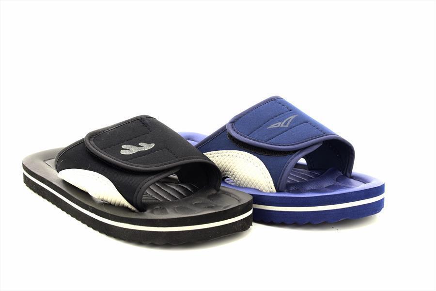 PDQ Marino Chanclas CIERRE Pantuflas Azul Marino PDQ Negro Impermeable Baño Playa b39c0b