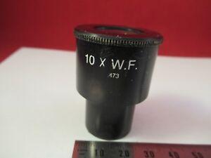 AO-CAT-473-10X-WF-OCULAR-EYEPIECE-OPTICS-MICROSCOPE-PART-AS-PICTURED-amp-66-A-82
