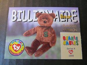 Ty Beanie Babies BBOC Series IV S4 ~ Classic Common ~ Card 303 Billionaire Bear
