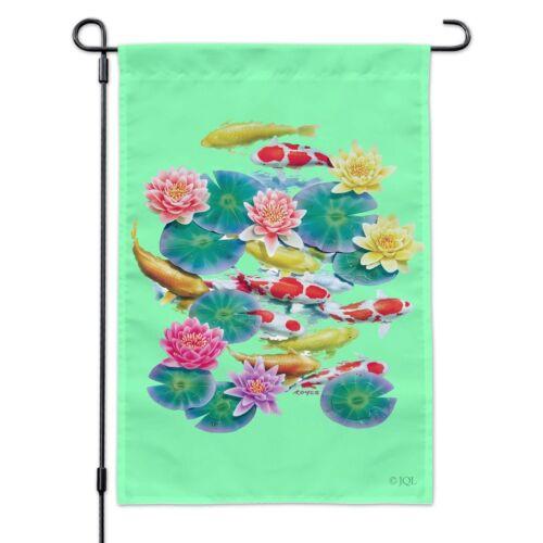 Koi Fish Pond Water Dance Garden Yard Flag