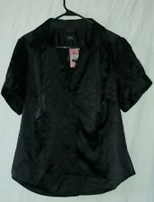 ~NWT~ TORRID Black Satin Sexy Blouse Size 1 OR 14/16