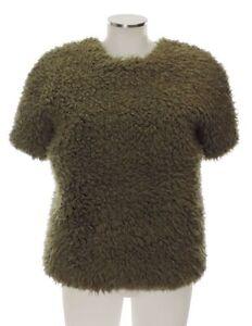 polyacrylique f courtes pull en coton manches kaki Kenzo d 34 36 à haut pzWRw4Wqa7