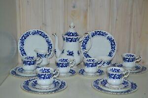 Royal-Albert-Porzellan-Bone-China-England-Aristocrat-Kaffeeservice-Komplett-21Tl
