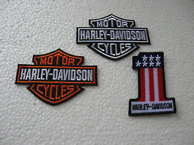 3x écusson patch motorcycles harley-davidson Racing Moto Sport Motard Race GT