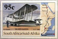RSA SÜDAFRIKA SOUTH AFRICA 1995 952 Trans Afrika Flug Flugzeug Airplane Map MNH
