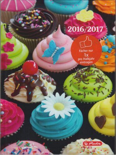 Herlitz A5 Coole Köpfe Schülerkalender 1Woche//2Seiten 2016//17 Kalender Cup Cake
