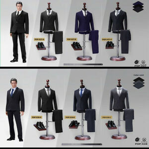 ZYTOYS 1//6 Male Black Suit Clothes Model F 12/'/' Narrow Shoulder Action Figure