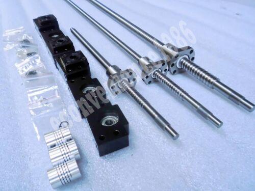 3 Anti-backlashed RM2005--2000 mm ballscrew/&RM2005 Ballnut /&BF15//BK15/&Coupings