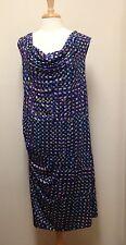 TRISTE Pixel Print Sleeveless slinky bodycon tank dress, Ruched on side Size 3X