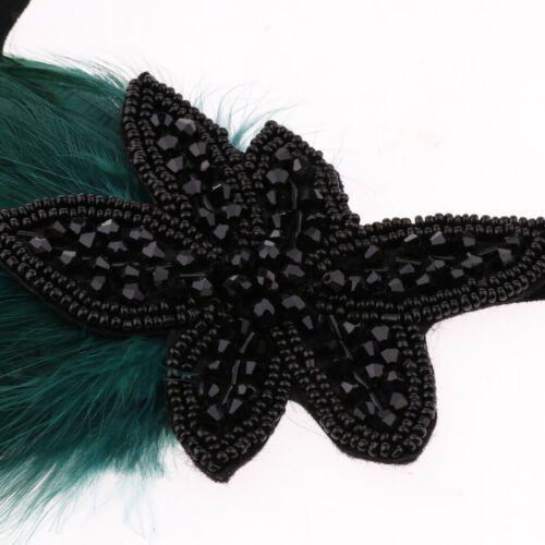 1920s  Flapper Headband Feather Flower Hairband Headpiece for Party