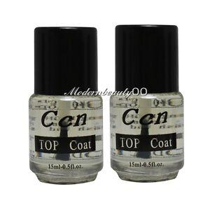 2 X Professional Top Coat Acrylic Nail Art Polish Topcoat 15ml | eBay