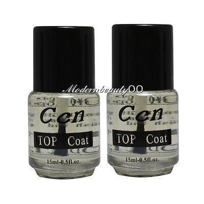 2 PCS Professional Top Coat for Acrylic Nail Art Polish Topcoat 15ml