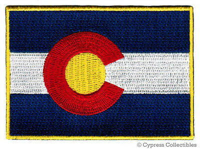 COLORADO BIKER PATCH iron-on EMBROIDERED MOTORCYCLE STATE FLAG