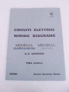 Ferrari Mondial Wiring Diagram Manual Cabriolet Quattrovalvole ...