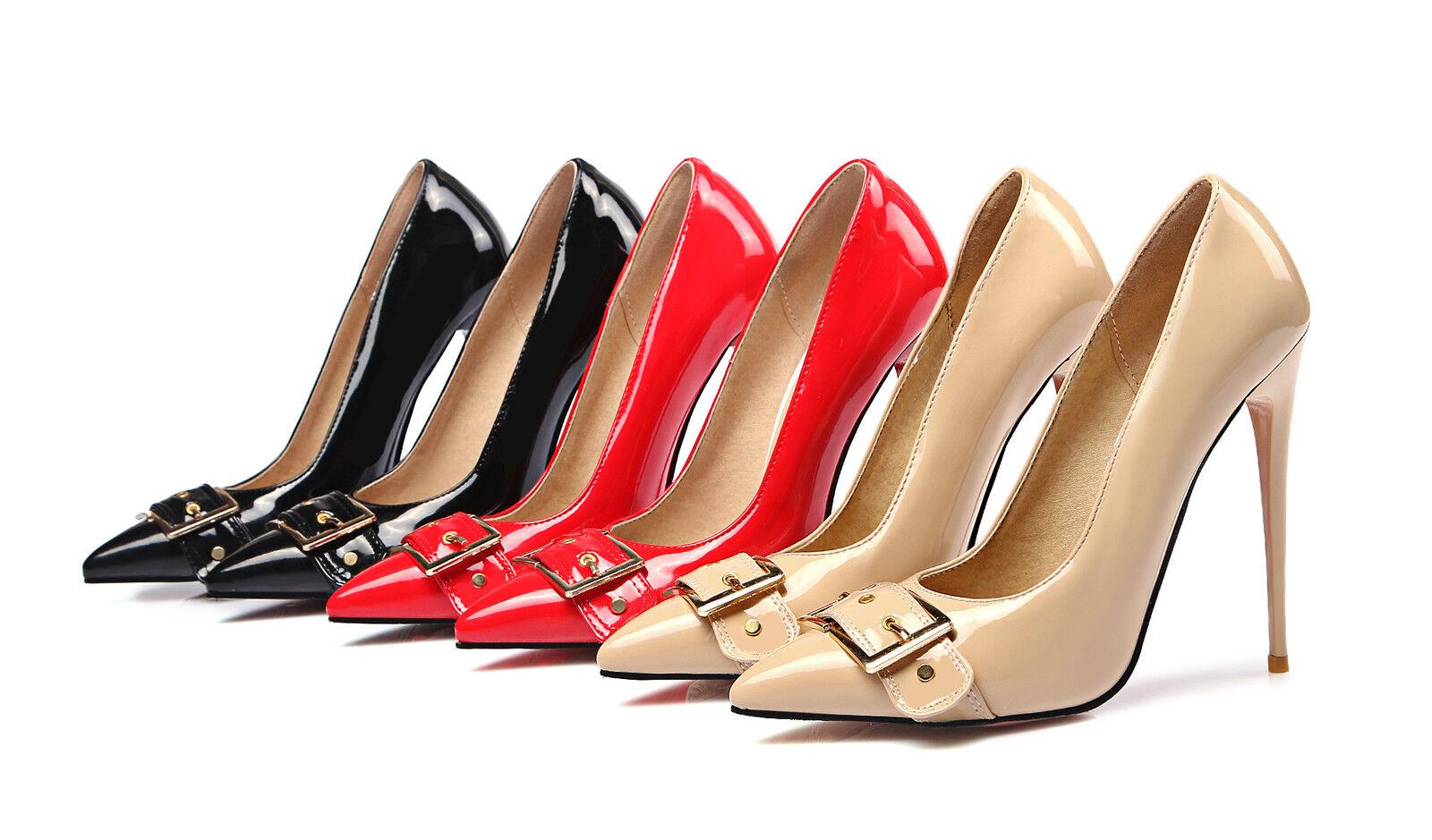 Zapatos de cuero 2018 sintético para para para mujer del partido Zapato Taco Alto Zapatos De Salón nosotros tamaño 4-14  100% garantía genuina de contador