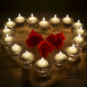 20pcs round romantic floating water candle table pool pond bath wedding party ebay for Floating candles swimming pool wedding