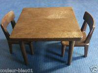 Playmobil Western - 1 Table + 2 Chaises Marron-foncé Pour Saloon/maison