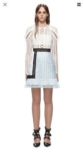 cd22e57525ad Image is loading Authentic-Self-Portrait-BNWT-White-Dress-Size-UK8-