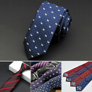 Men-Necktie-Jacquard-Woven-Tie-Silk-Narrow-Wedding-Party-Necktie-Fashion-Gift