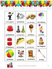 Loteria Bingo para Fiestas de Cumpleaños 25 TABLAS (Para imprimir en casa PDF)