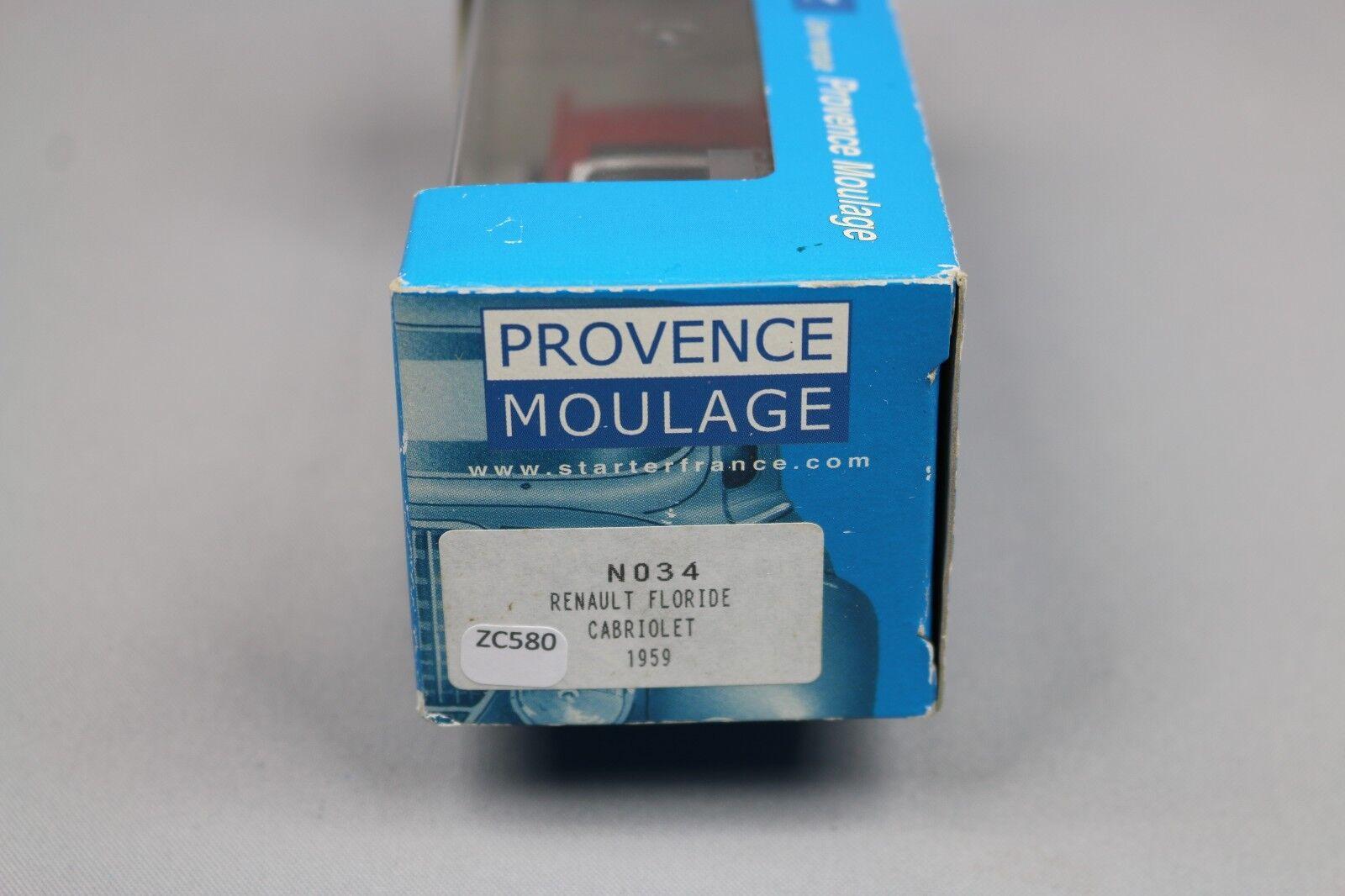 ZC580 Provence Moulage N034 Vehicule Miniature 1 43 Renault Floride Cabriolet
