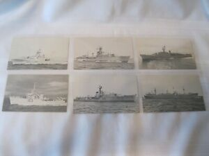 Six-Royal-Canadian-Navy-Postcard-Sized-Information-Cards