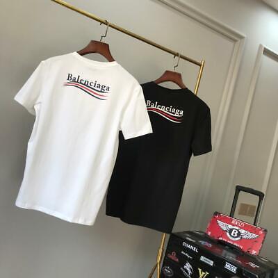 Balen Ciaga Tee Unisex T-shirt Fit Rundhals Kurze Ärmel Baumwolle Top Gr.s-xl StäRkung Von Sehnen Und Knochen