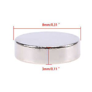 100PCS N52 4mmx2mm Round Neodymium Magnets Rare Earth Magnet