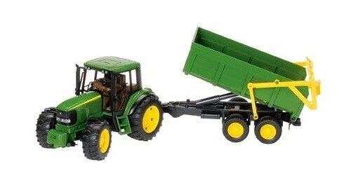 John Deere 6920 Tracteur avec remorque basculante échelle 1 16 Modèle Jouet eau Noël