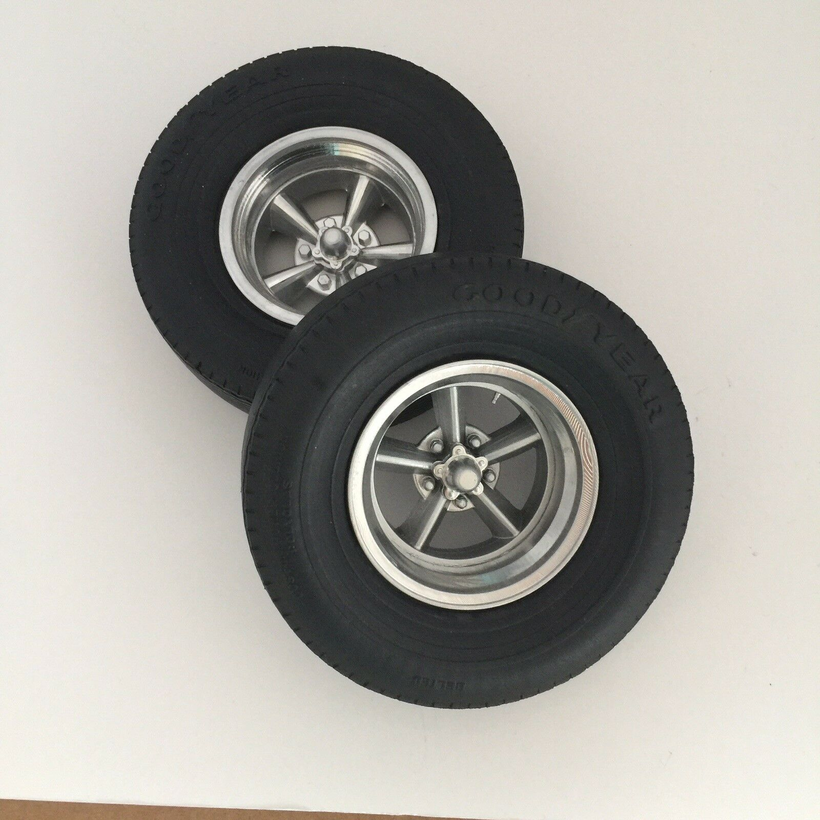 Two 1 8 Cast Resin Rear Wheels caps Revell-Monogram for soft tires(not Included)
