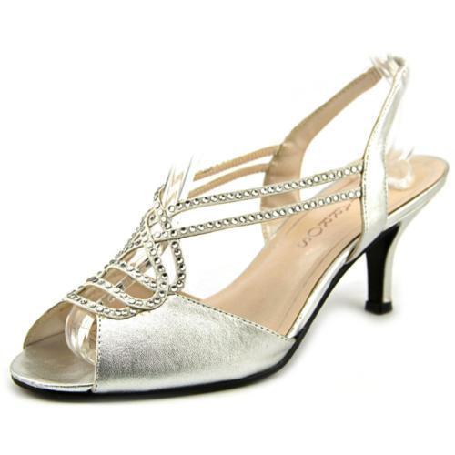 $85 Stones size 7.5 Caparros Philomena Stones $85 Silver Slingbacks Wedding Sandals Shoes 529043