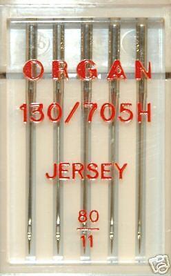 130//705H Talla 80-BLB75 Órgano Máquina De Coser Agujas de Jersey Bolígrafo