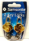 Samsonite Decorative Luggage Key Lock, Brass Finish, Set of 2 Locks; BRAND NEW