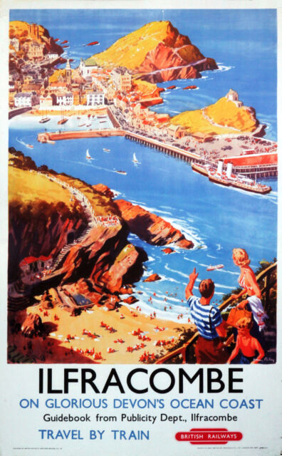 ILFRACOMBE DEVON BR  Vintage Deco Railway/Travel Poster A1,A2,A3,A4 Sizes