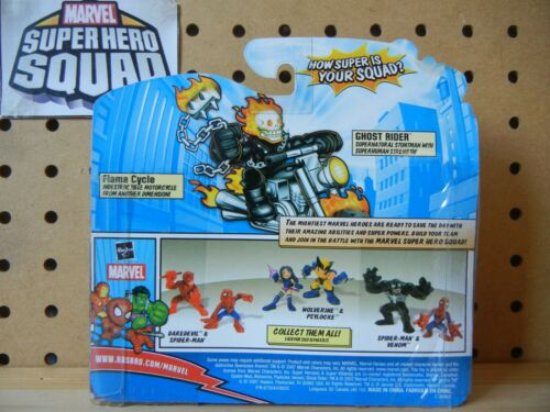 Marvel Super Hero Squad RARE SEALED Wave 18 GHOST RIDER /& FLAME CYCLE Motorcycle