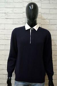 FAY-Maglione-Uomo-Pullover-Taglia-M-Sweater-Cardigan-CASHMERE-Man-Blu-Maglia