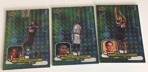 Olowokandi-Dickerson-amp-Garrity-Rookies-Electrix-Upper-Deck-Ionix-1998-99