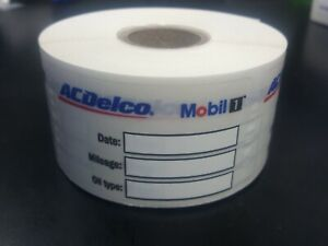 Details About Ac Delco Mobil 1 Oil Change Stickers 1000 Stickers Oil Change Sticker