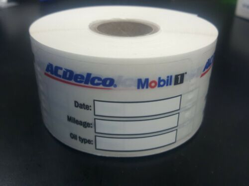 1000 Stickers AC DELCO MOBIL 1 Oil Change Stickers Oil Change ...