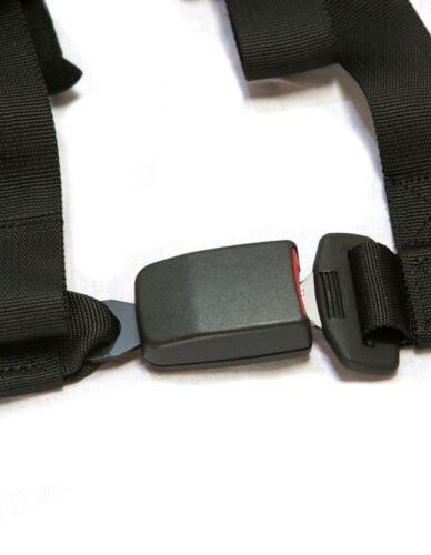 """PRP 4 Point 2/"""" Harness Seat Belt Automotive Style Latch Black Commander Maverick"""