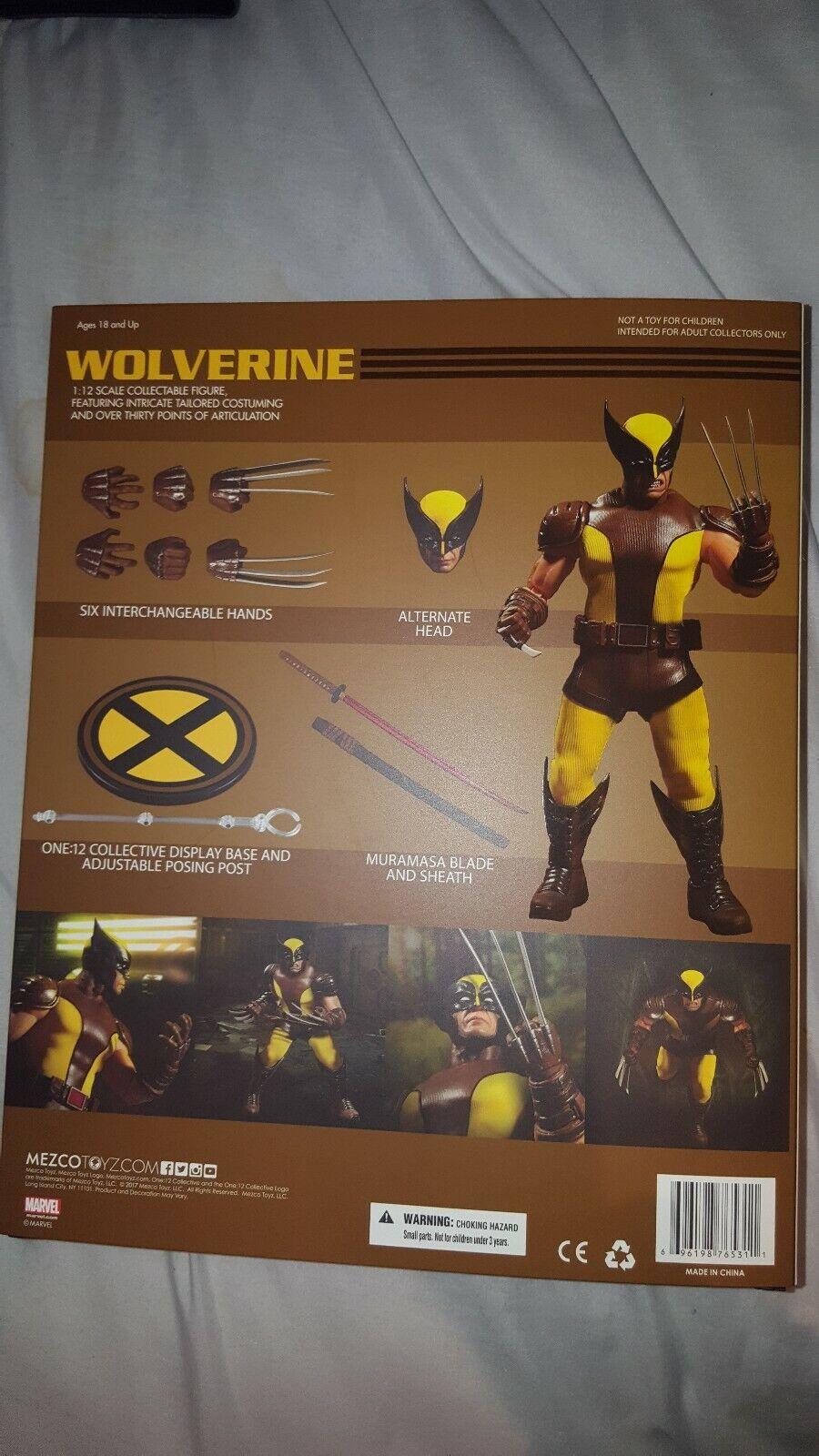 Mezco Toys 1 12 Marvel X-Men Wolverine Action Figure