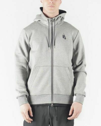 517a1913c4bc Mens Nike Lab Essential Hoodie 823673-063 Grey Heather Size Small for sale  online