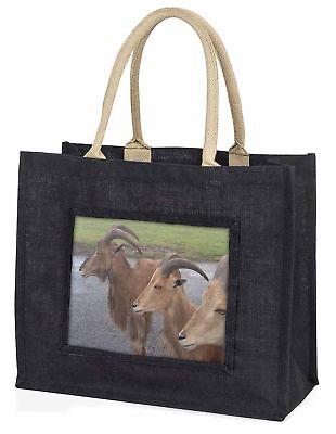 drei frecher Ziegen große schwarze Einkaufstasche Weihnachten