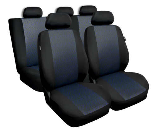 full set black Car seat covers fit Vauxhall Astra H blue