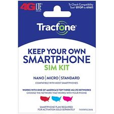 TracFone Keep Your Own Smartphone BYOP Verizon SIM Card Activation Kit 4g LTE