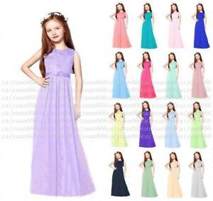 Chiffon-Girls-Junior-Flower-Party-Formal-Wedding-Bridesmaid-Princess-Prom-Dress