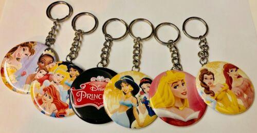 """1 Dozen Disney Princess 2.25/"""" Backpack Keychains Party Favors Giveaways 12 pcs"""