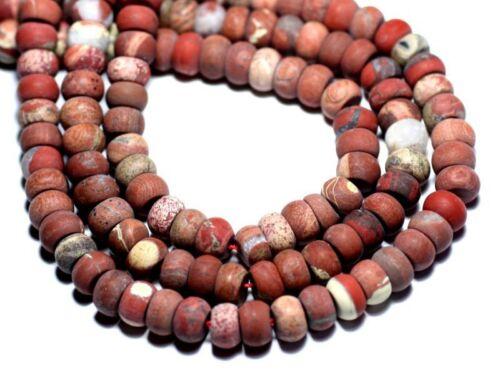 10pc Jaspe Rouge Mat givré Rondelles 8x5mm Perles de Pierre 8741140007819