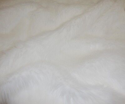 S A M P L E Fur Faux Fake White shaggy long pile upholstery custom fabric